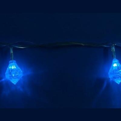 Гирлянда светодиодная «Брильянты» синяя 2,8м Новогодние товары/Китай