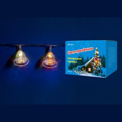 Гирлянда разноцветная  led «Колокольчики» 2,8 м Новогодние товары/Китай