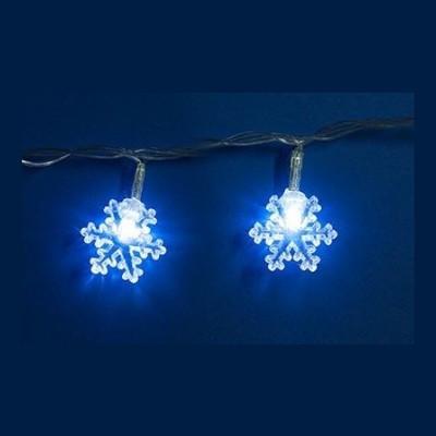 Гирлянда белая led «Снежинки» 2,8м Новогодние товары/Китай