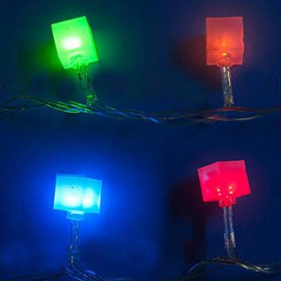 Гирлянда разноцветная светодиодная  «Кубики» 7м Новогодние товары/Китай