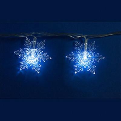 Гирлянда белая led «Снежинки-1» 7м Новогодние товары/Китай