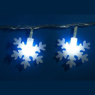 Гирлянда белая led «Снежинки-2»,  7м Новогодние товары/Китай