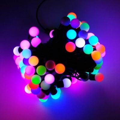 Гирлянда led «Разноцветные шарики», 8м Новогодние товары/Китай