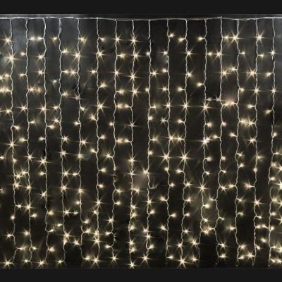 Гирлянда занавес 2,5х1,5 м. прозрачная Новогодние товары/Китай