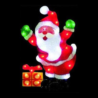 Фигура led  Дед Мороз с подарком Новогодние товары/Китай