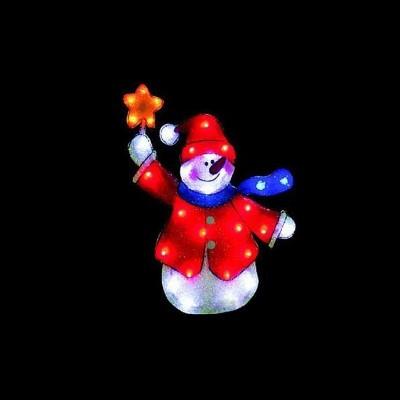 Фигура  led , Снеговик со звездой Новогодние товары/Китай