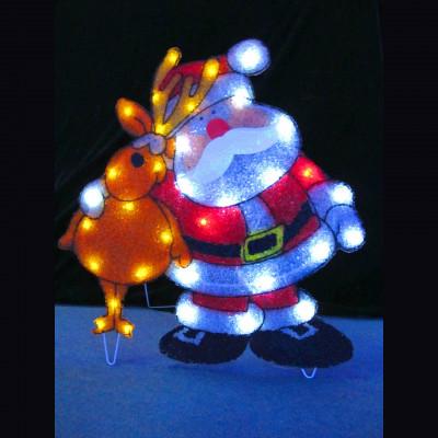 """Фигура  led """"Дед Мороз с оленем"""" Новогодние товары/Китай"""