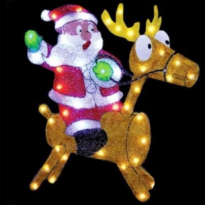 Фигура  led Дед Мороз на олене Новогодние товары/Китай