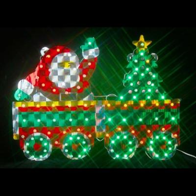 """Фигура  led """"Дед мороз на поезде"""" Новогодние товары/Китай"""