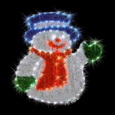 """Фигура  led """"Снеговик в шляпе"""" Новогодние товары/Китай"""