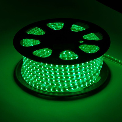 Лента led 5050 зеленая, 220v, Новогодние товары/Китай